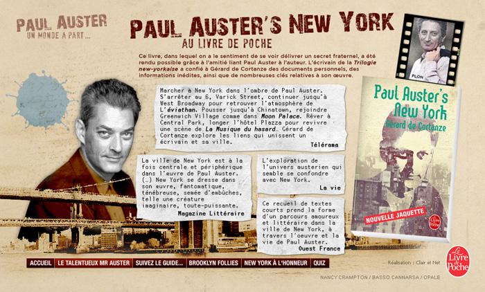 Paul Auster – Livre de Poche